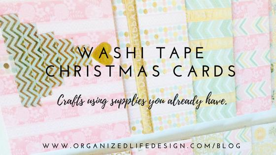 Washi Tape Christmas Cards | Organized Life Design